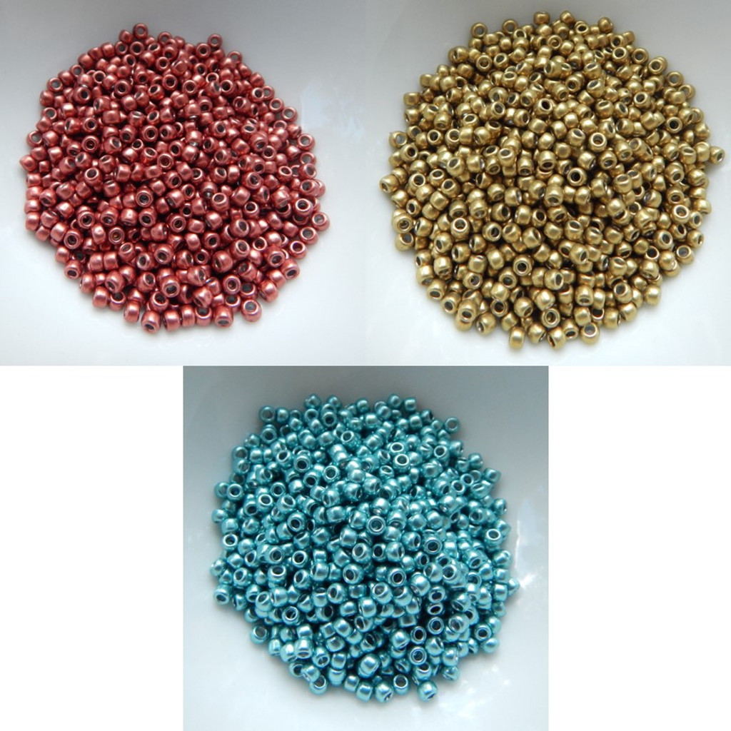 8/o TOHO Seed Beads HYBRID ColorTrends Metallics 25g - Choose Color