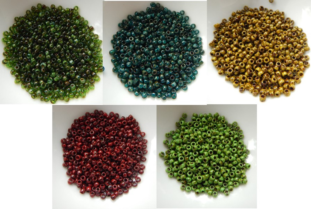 8/o TOHO Seed Beads HYBRID Picasso Colors 25g - Choose Color