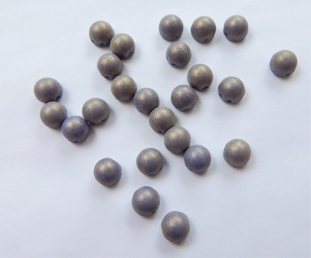 Cabochon 7mm 2-Hole Pacifica Elderberry (25 beads) beads