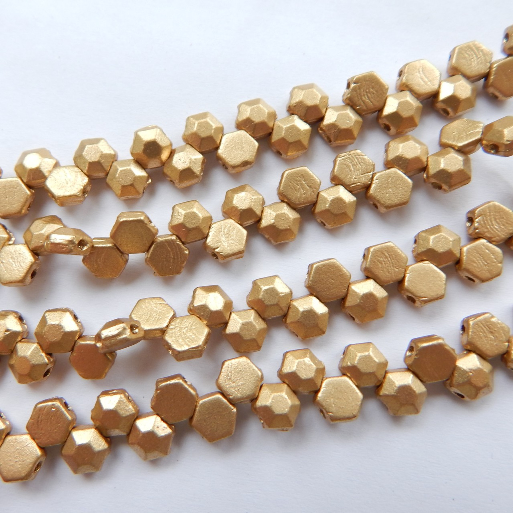 metal round gemstone plain products item craft beads gold