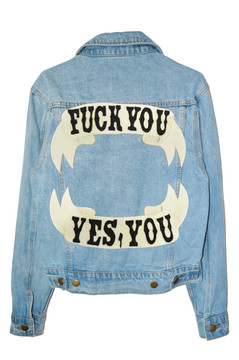 NATURAL DENIM / BLACK FONT