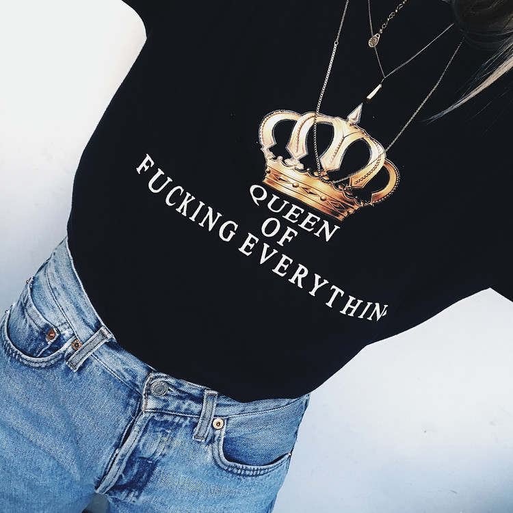 QUEEN OF F* EVERYTHING SWEATER