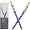 Ventev - aux cable 4ft. for 3.5mm Devices purple