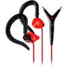 Yurbuds Sports Earphones - Focus 400 In-Ear Earphones with In-Line Red/Black