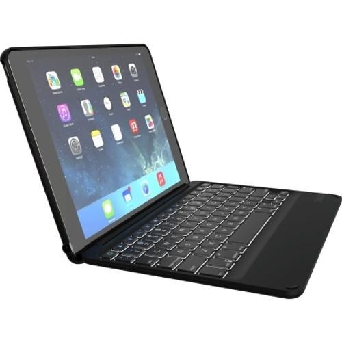 ZAGG Inc. - ZAGGkeys Folio Backlit Keyboard iPad Air 2 Black