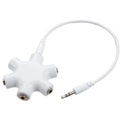 Belkin - Rockstar 5 Way Headphone Splitter in White