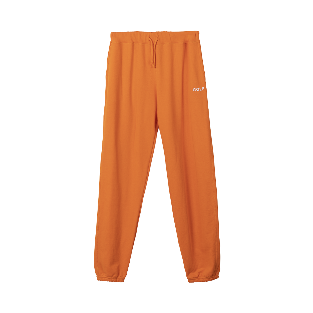 GOLF LOGO EMBROIDERED SWEATPANTS - ORANGE by GOLF WANG