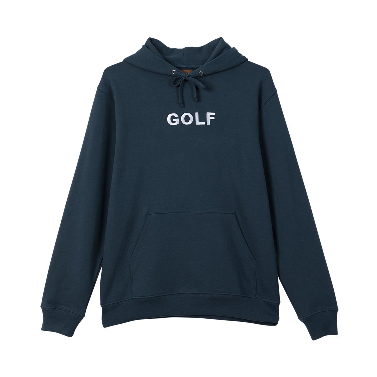 GOLF LOGO EMBROIDERED HOODIE - NAVY by GOLF WANG