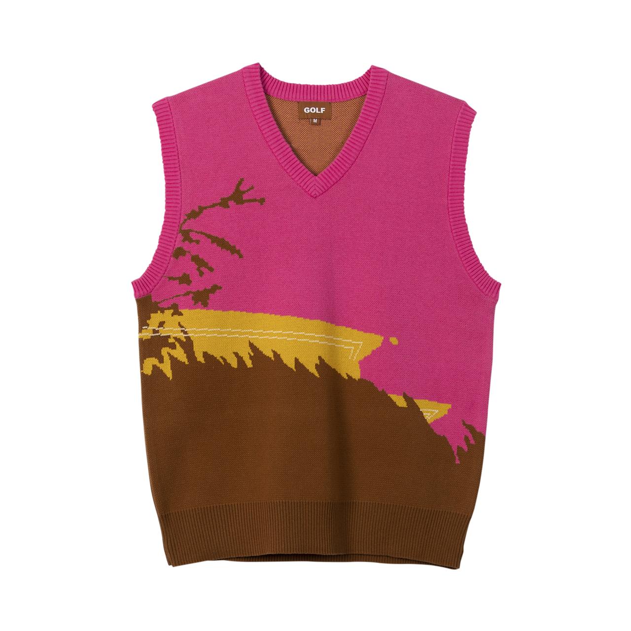 Gelato Sweater Vest Hot Pink By Golf Wang Golf Wang