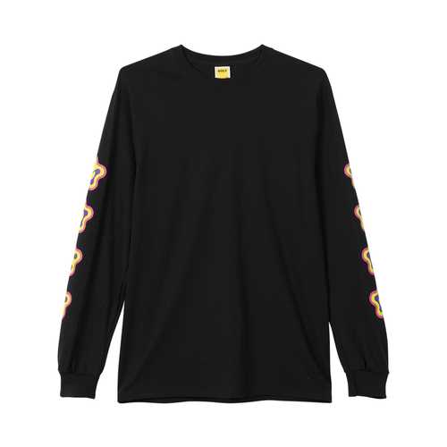 16b4fb17 AMOEBA LONG SLEEVE TEE - BLACK by GOLF WANG
