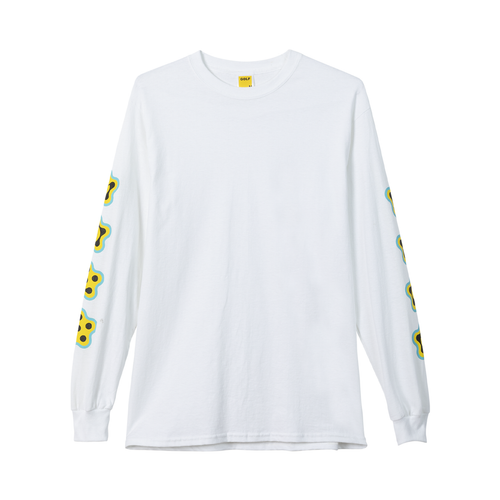 fa69fa6f37d3 AMOEBA LONG SLEEVE TEE - WHITE by GOLF WANG