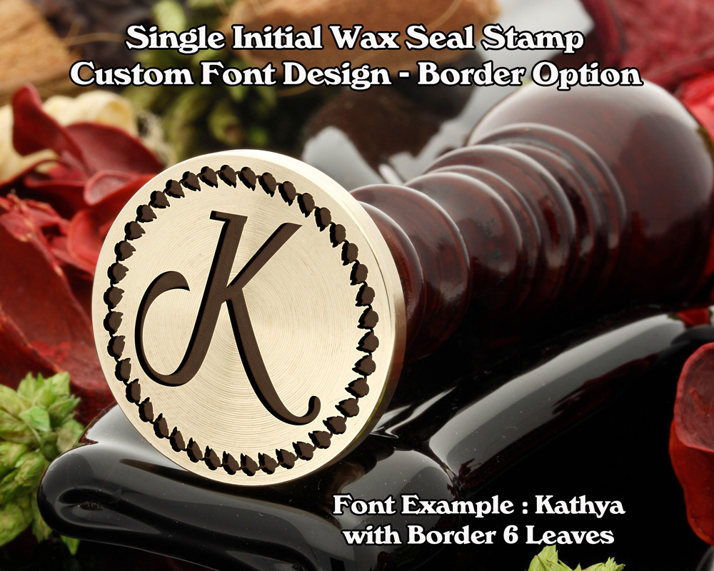 Single Initial Design Example K, font sample 'Kathya'