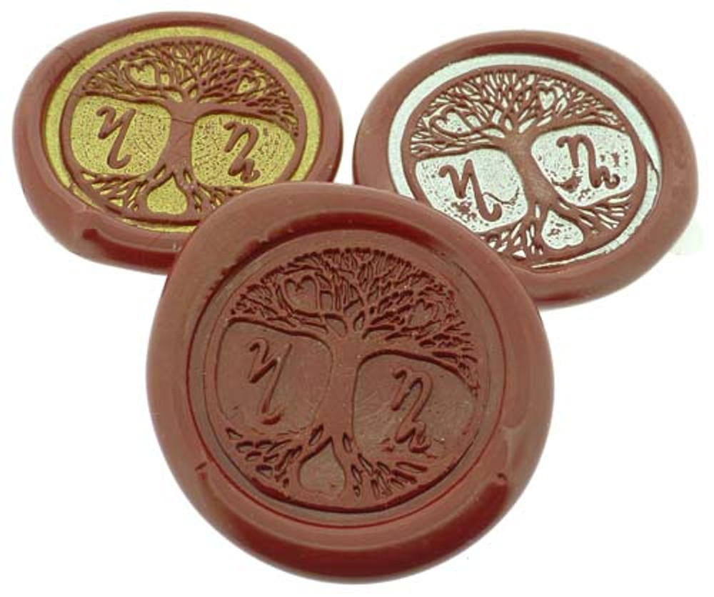 peel n stick wax seal impressions, showing gold or silver highlight