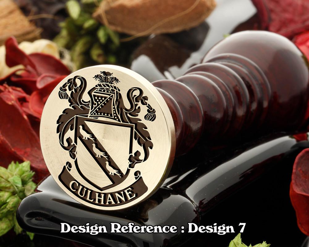 Culhane Family Crest Wax Seal D7