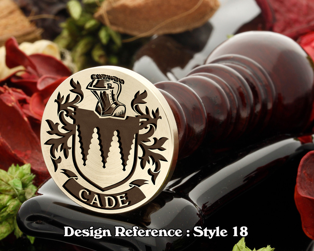 Cade Family Crest Wax Seal D18