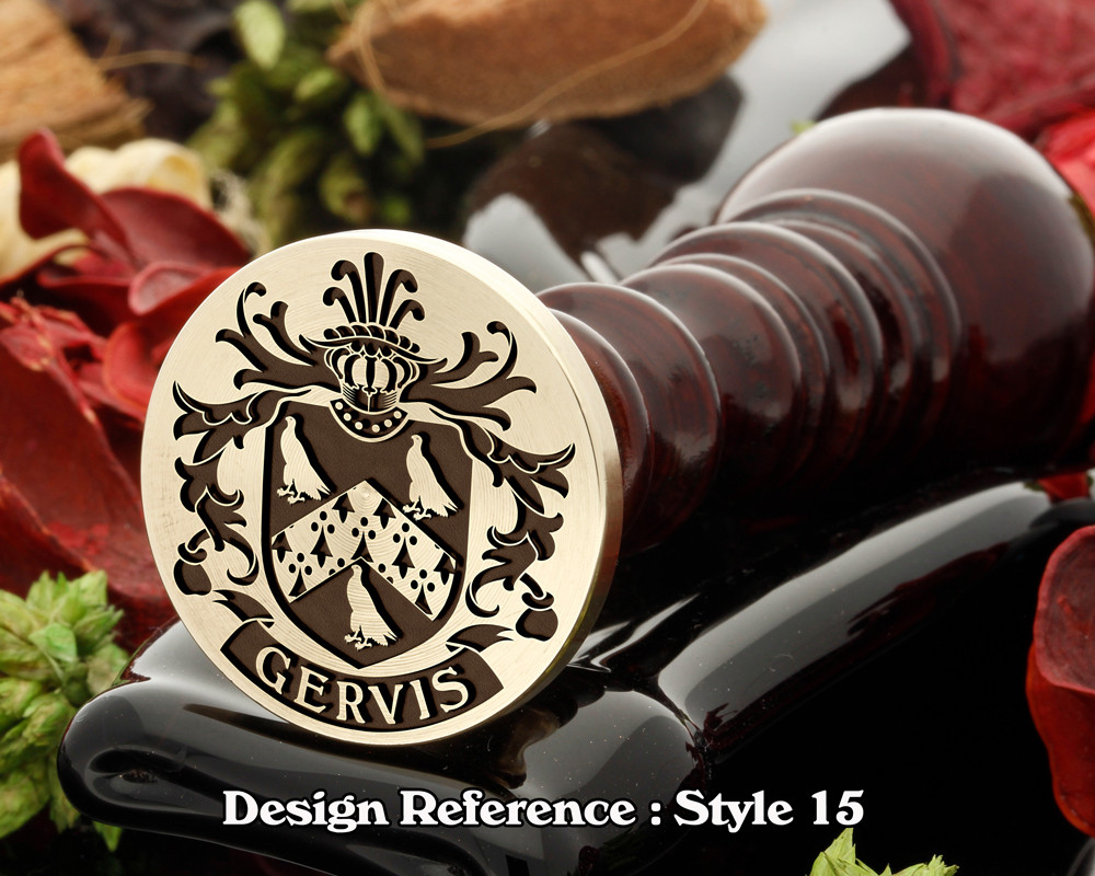 Gervis Family Crest Wax Seal D15