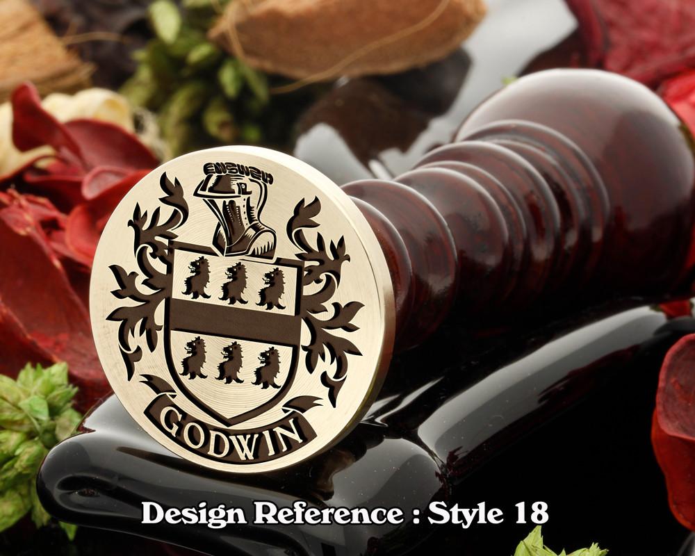 Godwin Family Crest Wax Seal D18