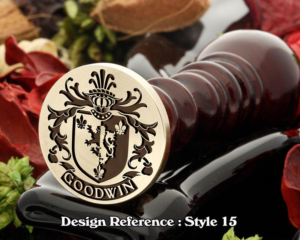 Goodwin Family Crest Wax Seal D15