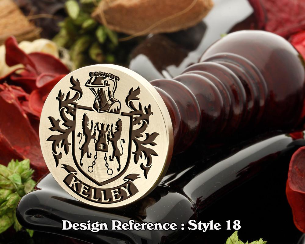 Kelley Wax Seal Stamp D18