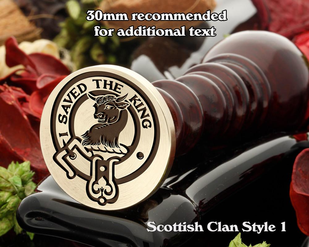 Turnbull Scottish Clan Wax Seal D1