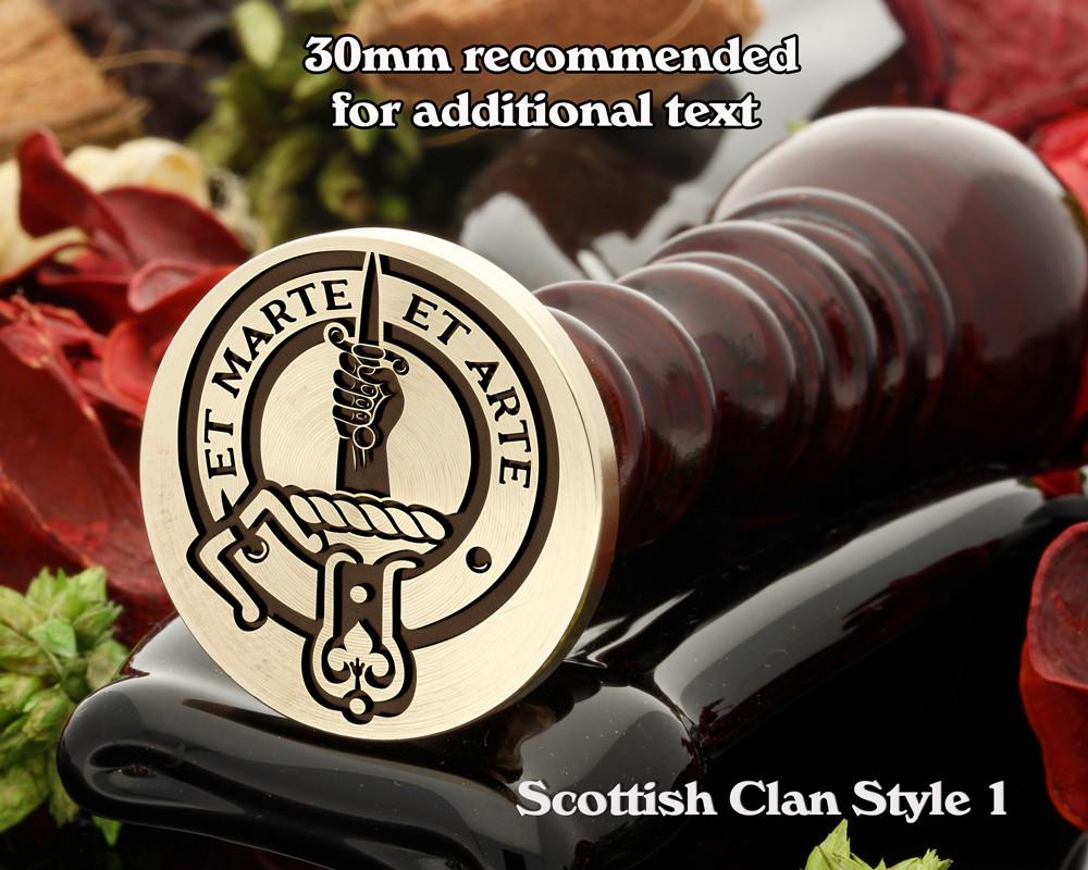 Bain Scottish Clan Wax Seal D1