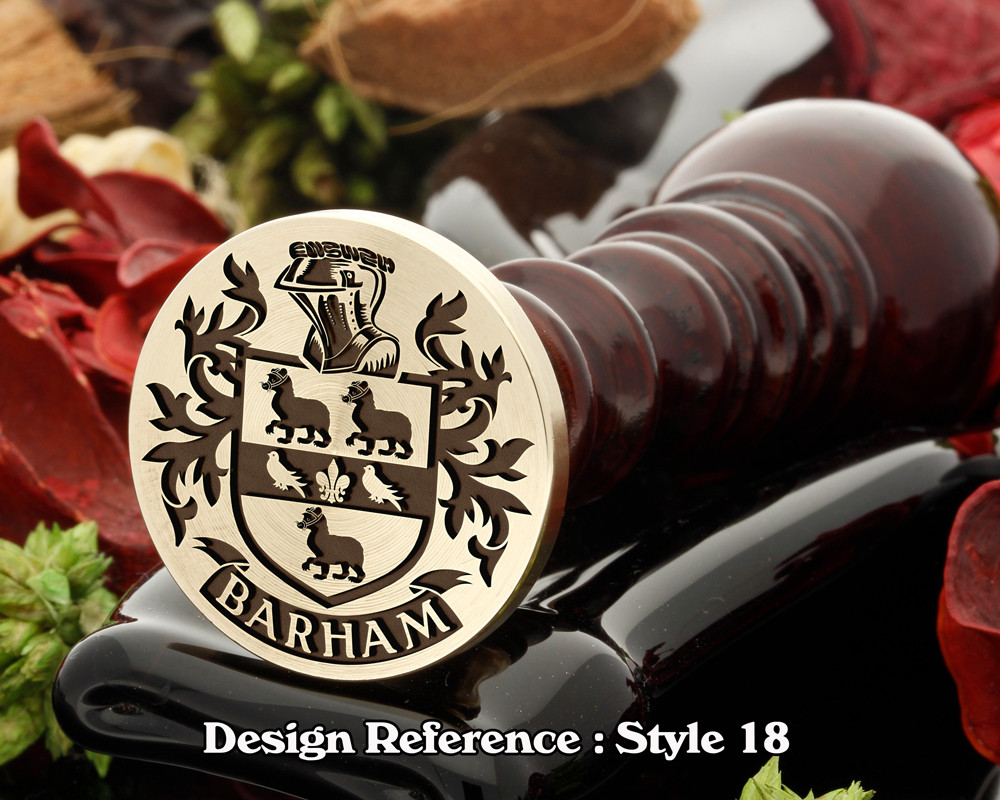 Barham Family Crest Wax Seal D18