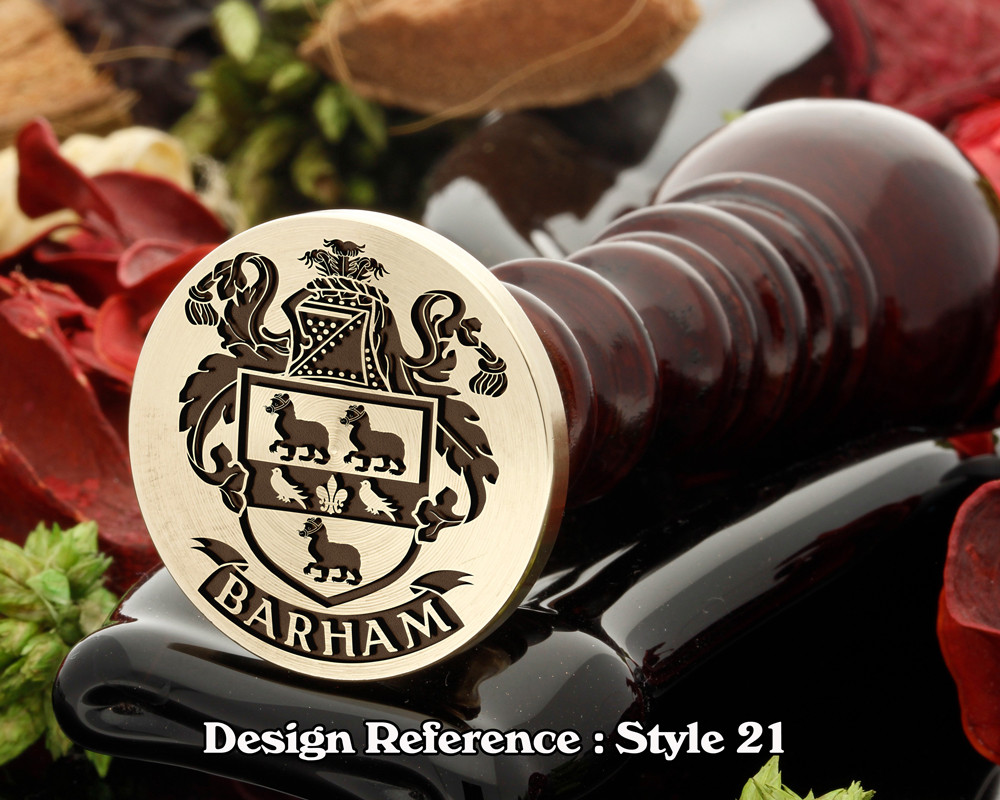 Barham Family Crest Wax Seal D21