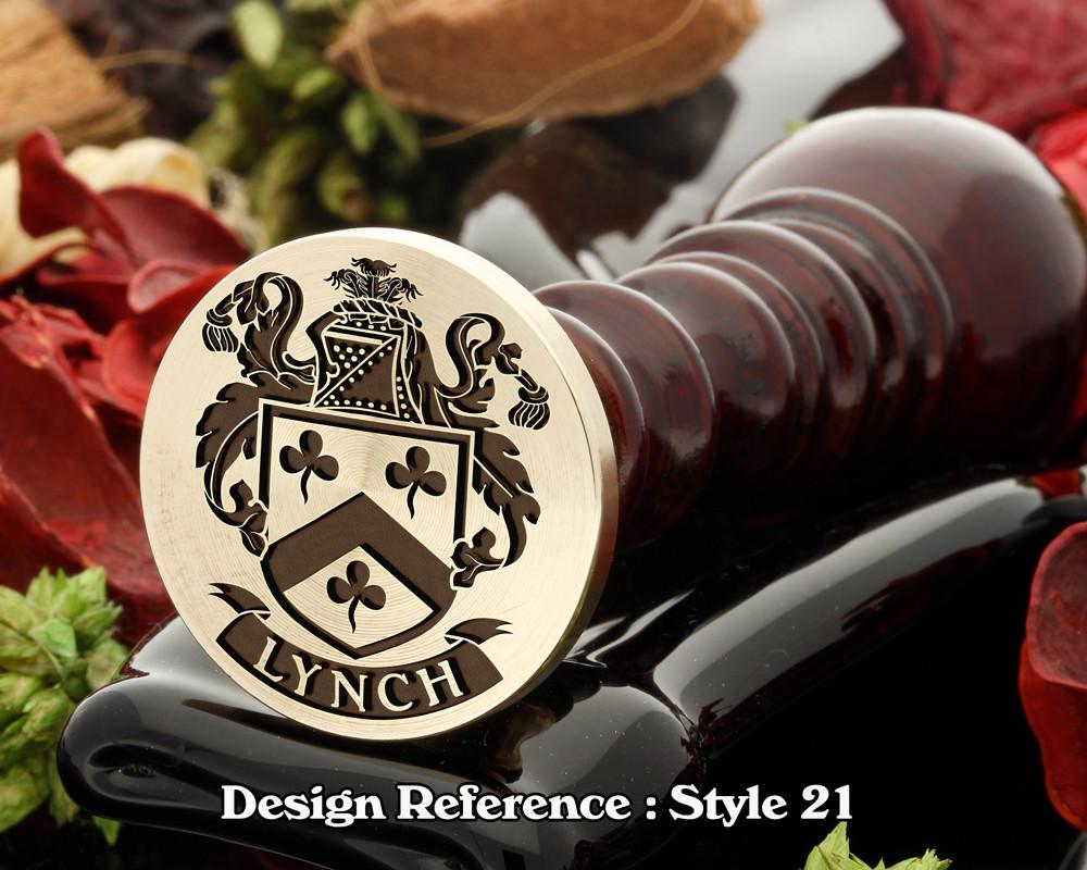Lynch Family Crest Wax Seal D21