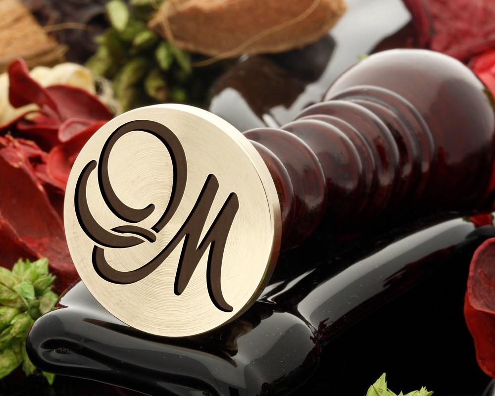 OM Wax Seal Monogram (photo reversed)