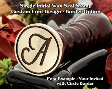 Single Initial Design Example A, font sample 'Your Invited'