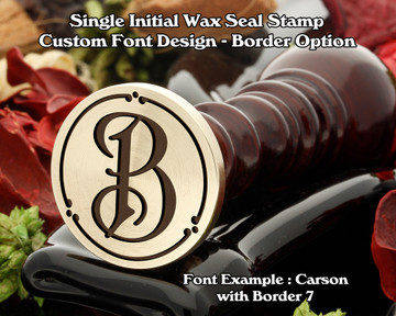 Single Initial Design Example K, font sample 'Carson'