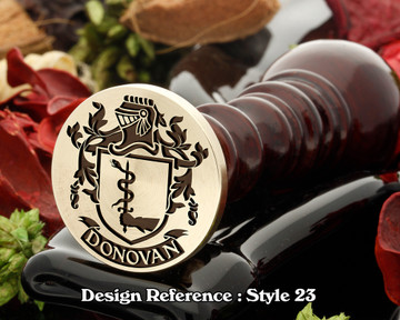 Donovan Family Crest Wax Seal D23