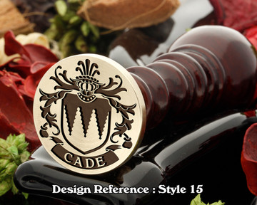 Cade Family Crest Wax Seal D15