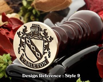 Carleton Family Crest Wax Seal D9