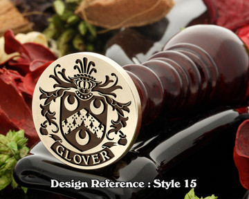 Glover Family Crest Wax Seal D15