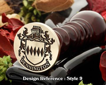 Pennington Family Crest Wax Seal D9