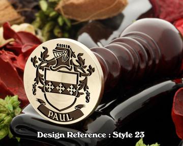 Paul Family Crest Wax Seal D23