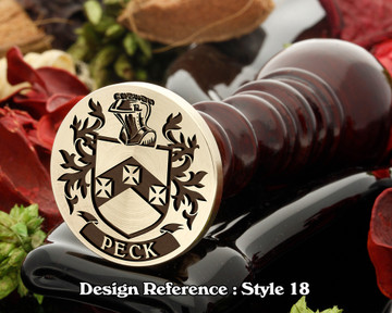 Peck Family Crest Wax Seal D18