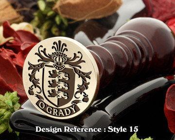 O'Grady Family Crest Wax Seal D15