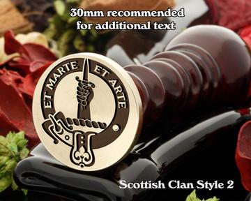 Bain Scottish Clan Wax Seal D2