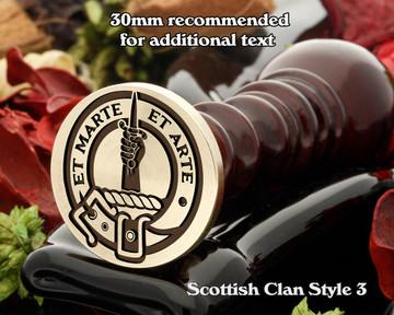 Bain Scottish Clan Wax Seal D3