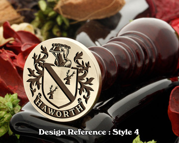 Haworth Family Crest Wax Seal D4