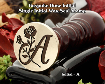 Rose Initial A Wax Seal Design - Engraved to Order