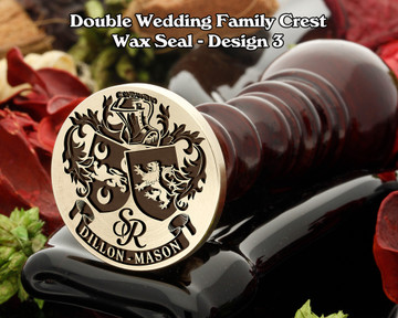 Double Wedding Family Crest Wax Seal D3 including bespoke monogram