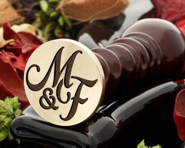 M&F Wax Seal Monogram (photo reversed)