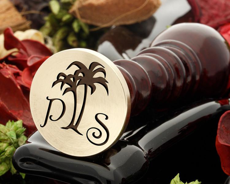 Palm tree 1 wax seal