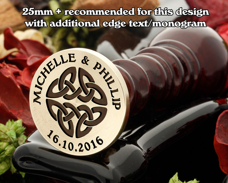 Celtic Wax Seal D11 - additional text extra cost