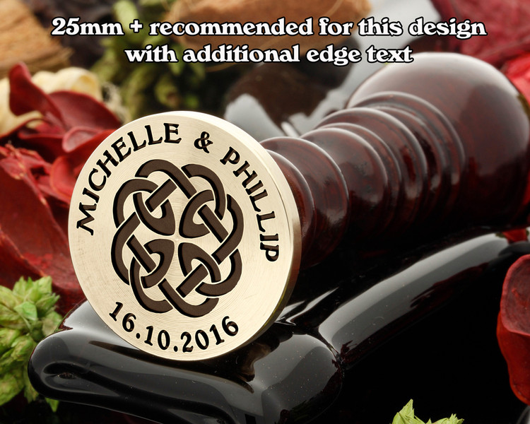Celtic Wax Seal D12, edge text extra cost
