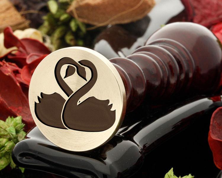 Love swans 2 wax seal