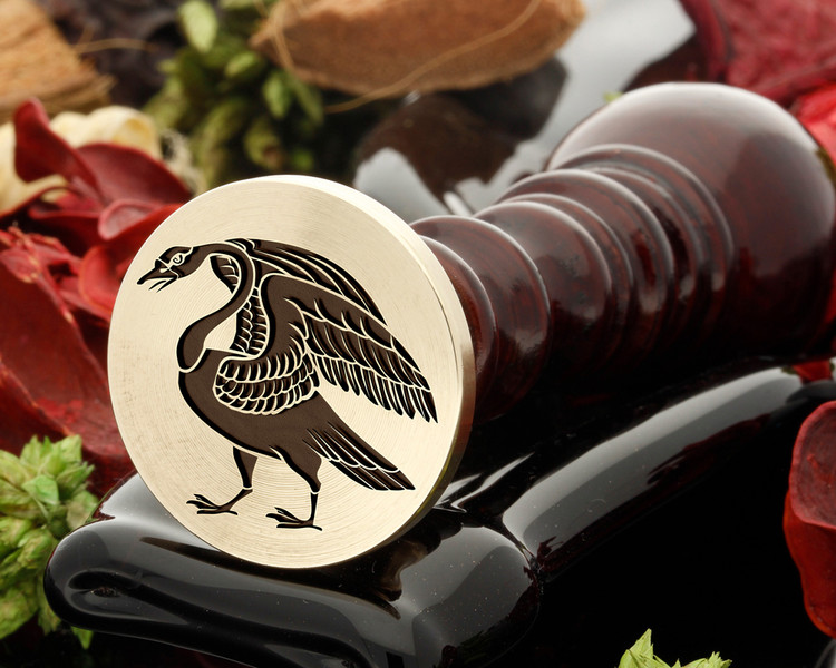 Crested Swan wax seal